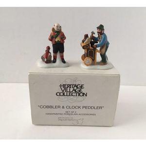 Dept 56 Cobbler & Clock Peddler Heritage Village